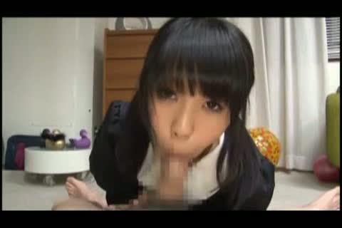 【金沢里美】時間をかけて黒髪美少女がSッ気たっぷりにフェラチオ!