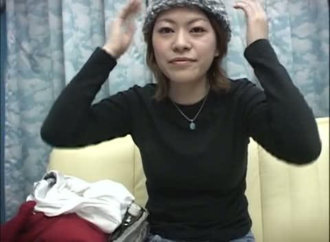 【素人】ニット帽の姉さんをキャッチして顔に発射したった